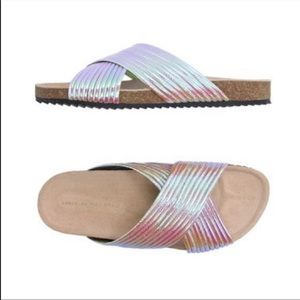 Louffler Randall Petra Iridescent Sandal Slide